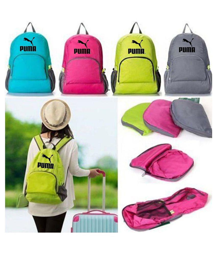Puma Pink Foldable Lightweight Waterproof Travel Backpack