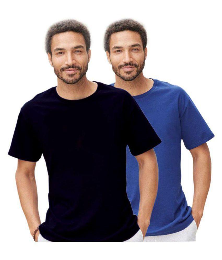 PINUSTORE Multi Round T-Shirt Pack of 2