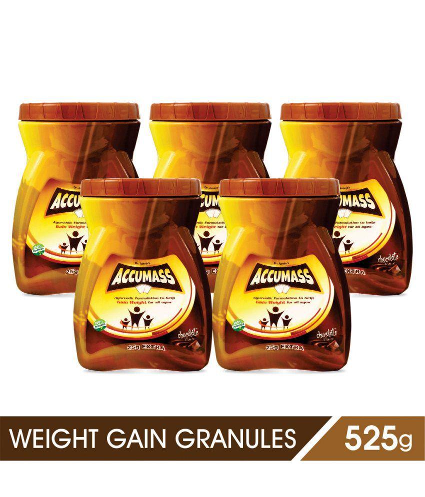 Accumass Weight Gainer Powder 525gm, Pack of 5 (Ayurvedic Weight Gainer for Men & Women)
