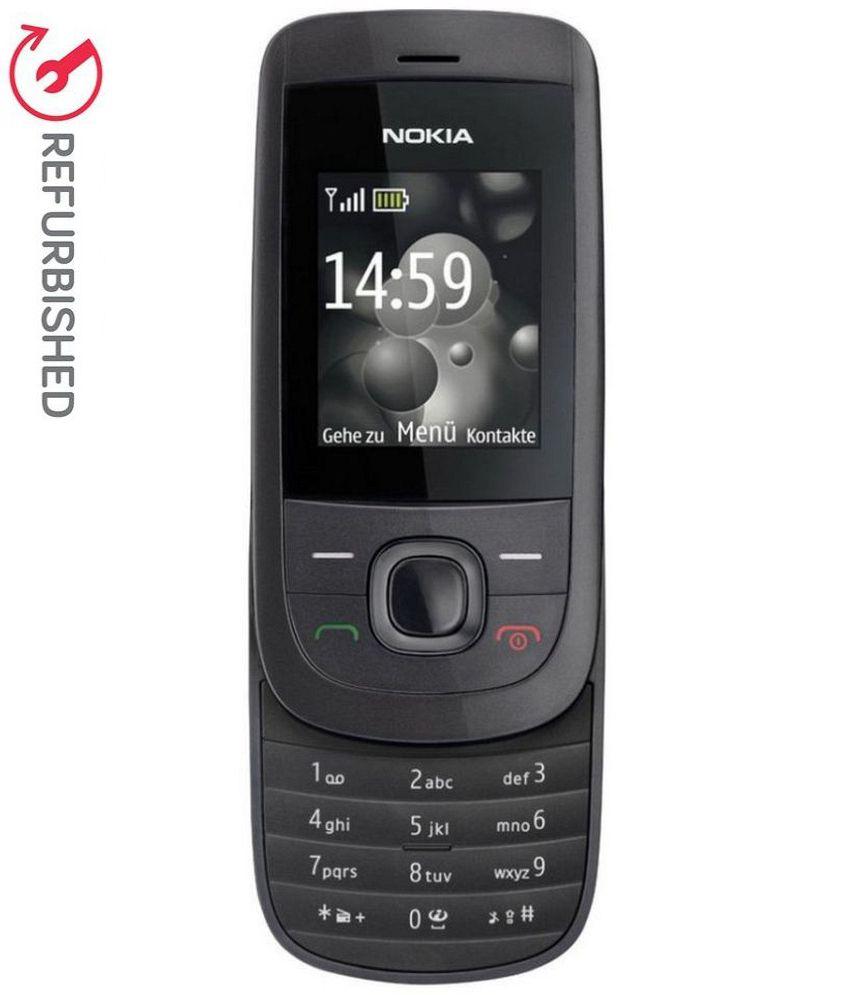 REFURBISHED Nokia 2220 Slide 32 MB Black(With Compatible Battery & Charger)
