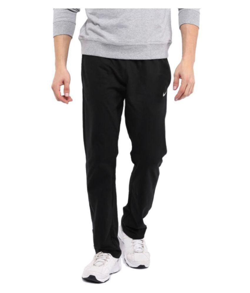 Nike Black Men/Boy's Lycra trackPant for Walking