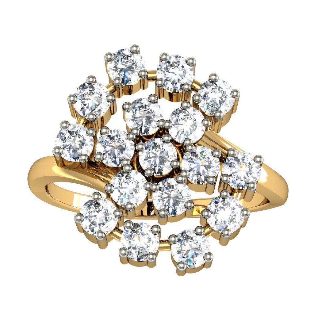 JEWELMANTRA 18k Gold Ring