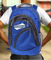 American Tourister Branded Laptop Backpack Royal Blue (30 Litres)