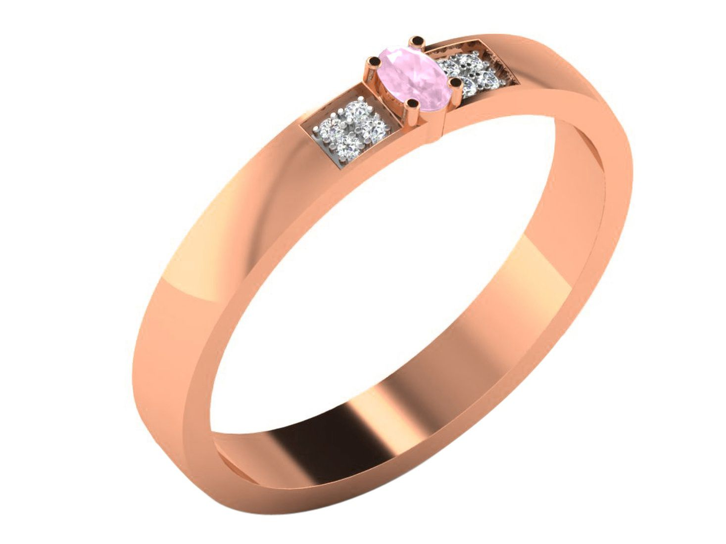 His & Her 18k Rose Gold Ring