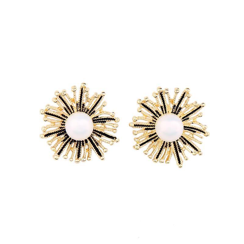 Bling Style Anemone Stud Earrings