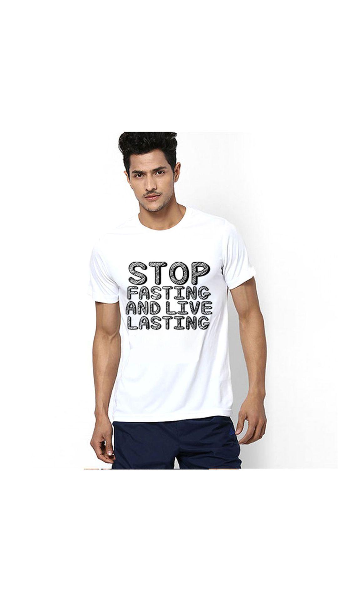 PINUSTORE White Round T-Shirt Pack of 1