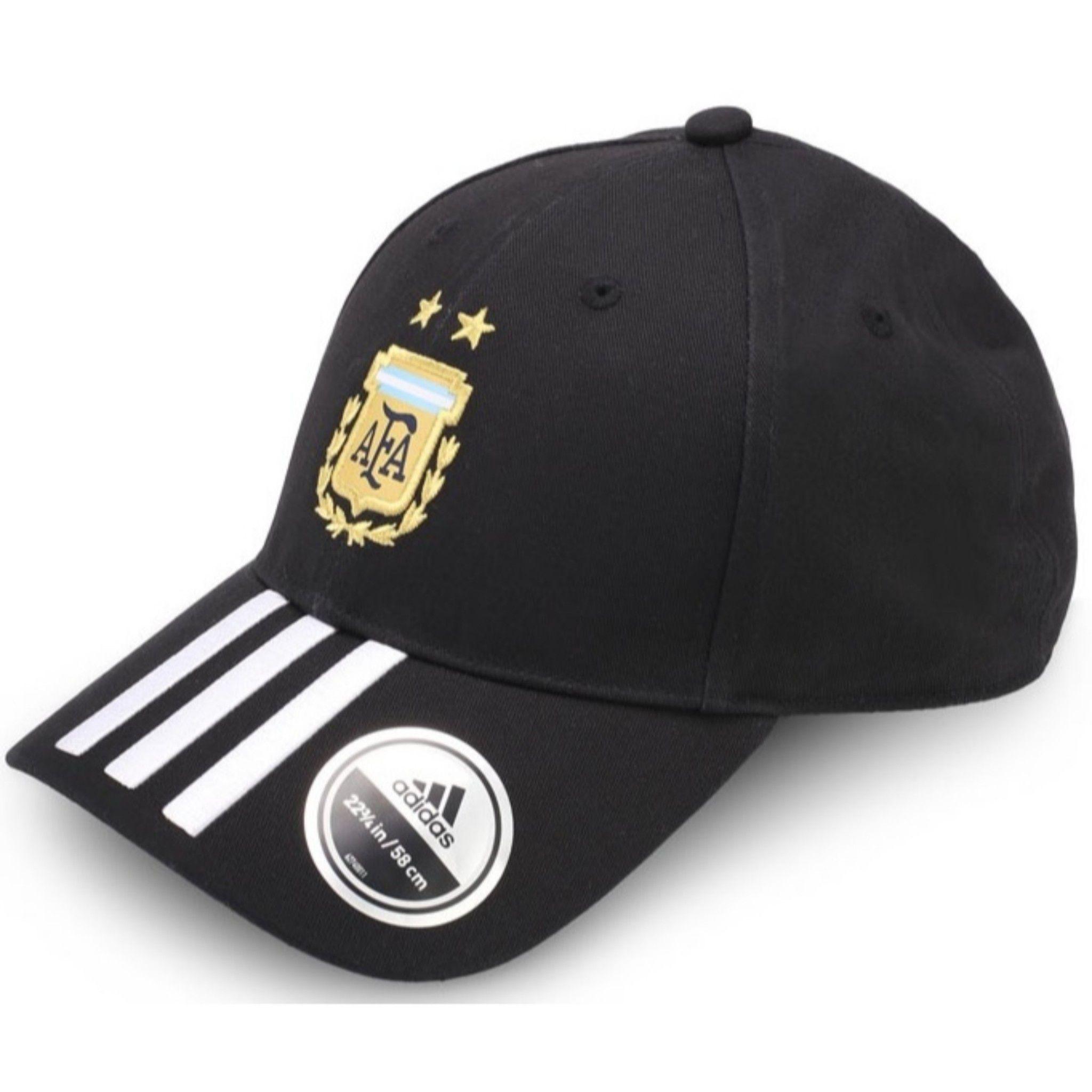 Adidas Black Printed Cotton Caps