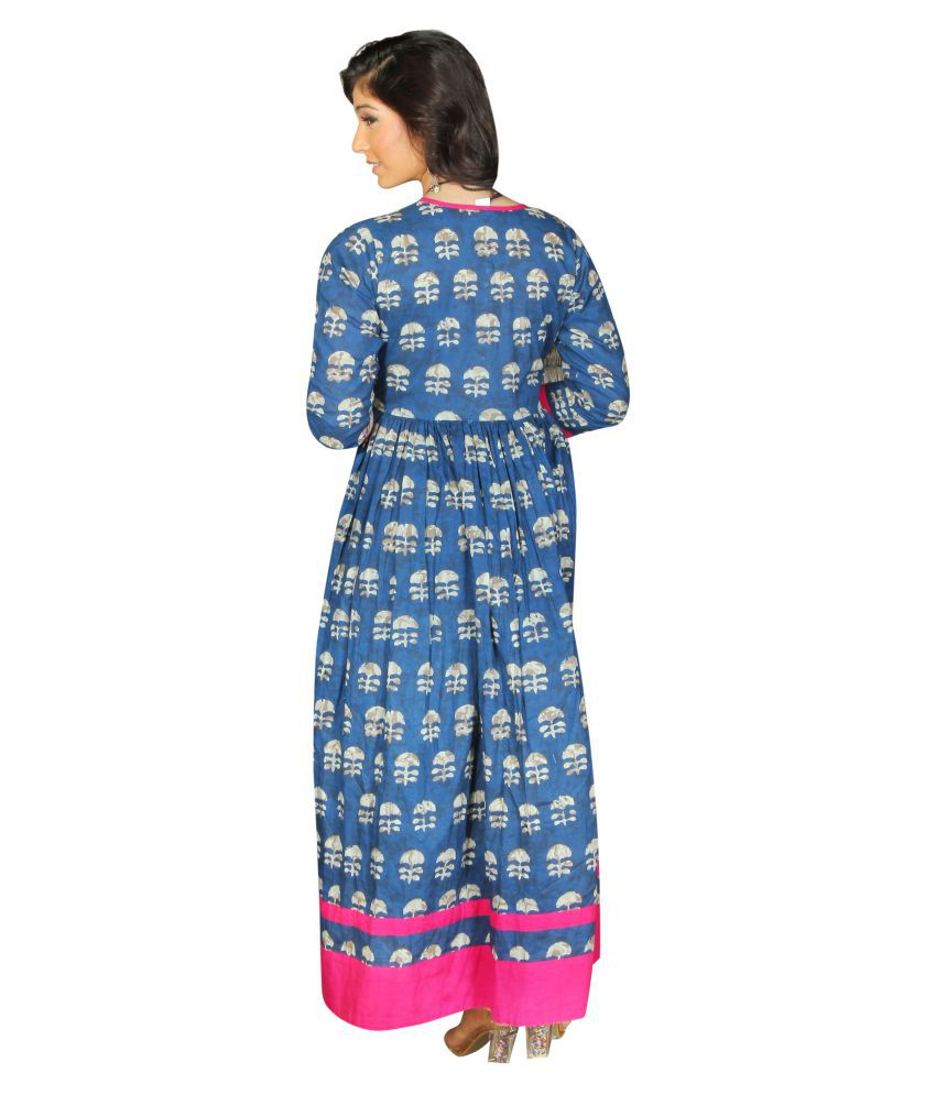 228ede2ae7cb ... Jaipur Textile Hub Cotton Traditional Handmade Block Print Women s  Kurti Dress ...