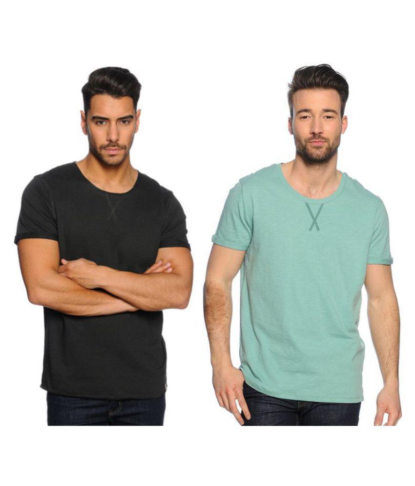 Zachi Black Round T-Shirt Pack of 2