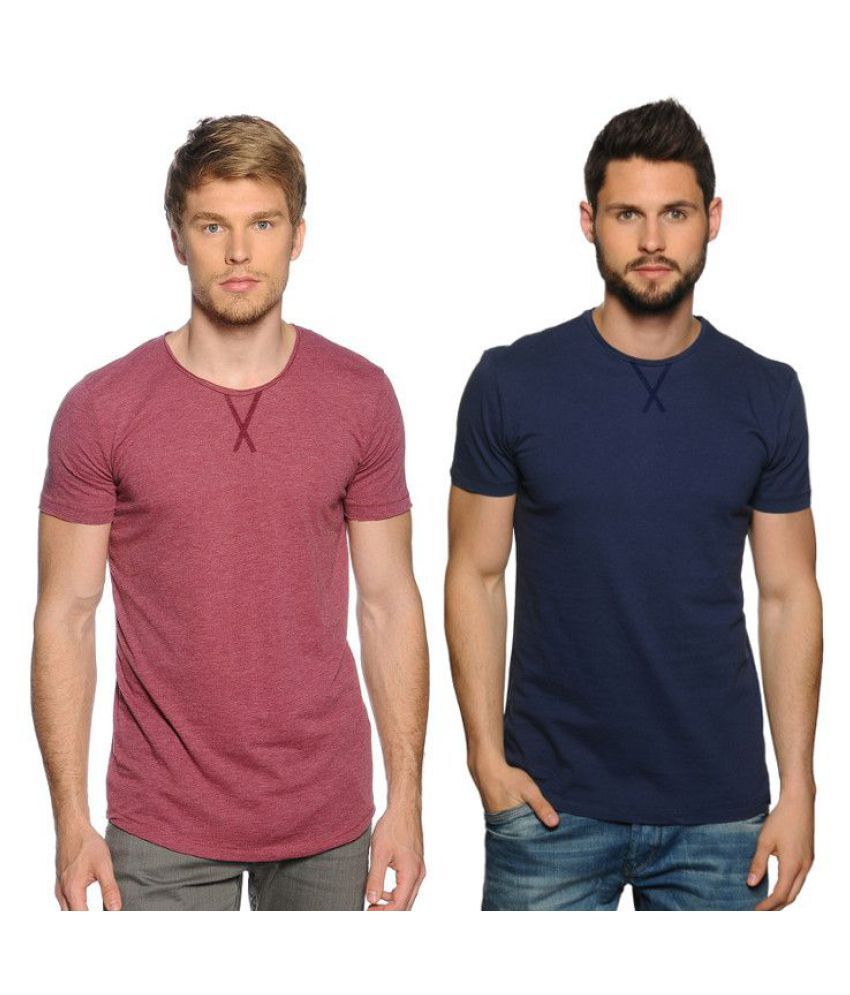 Zachi Blue Round T-Shirt Pack of 2