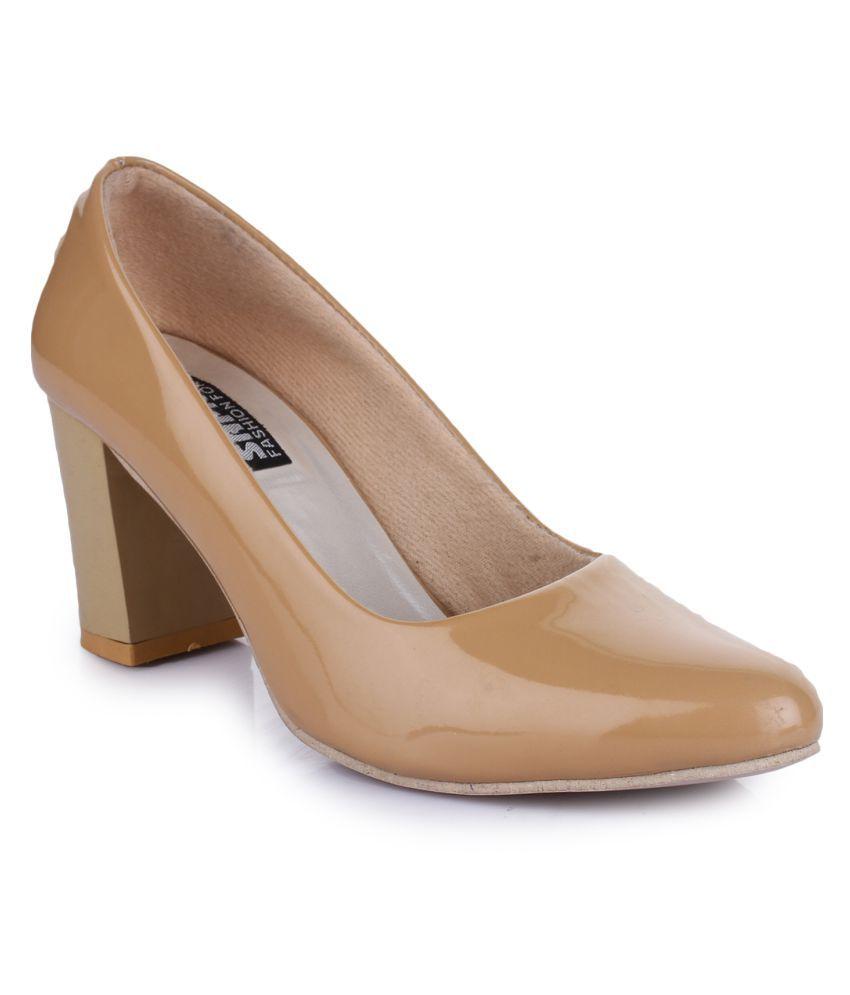 Sapatos Brown Block Heels