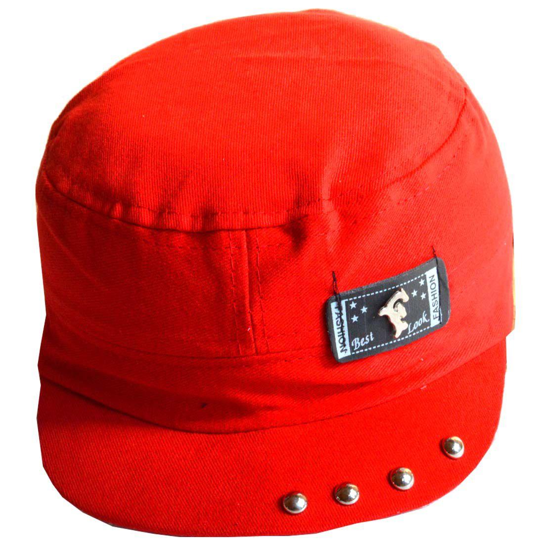 Faynci Red Graphic Cotton Caps