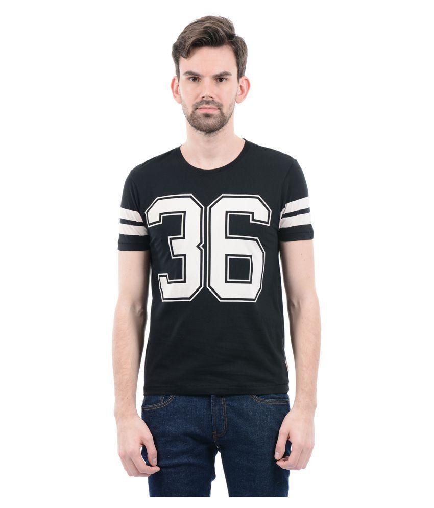 Flying Machine Black Round T-Shirt