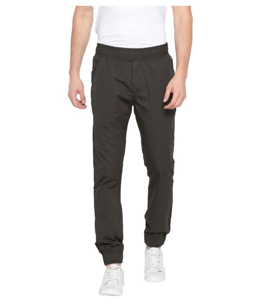 Sports 52 Wear Grey Slim -Fit Flat Joggers