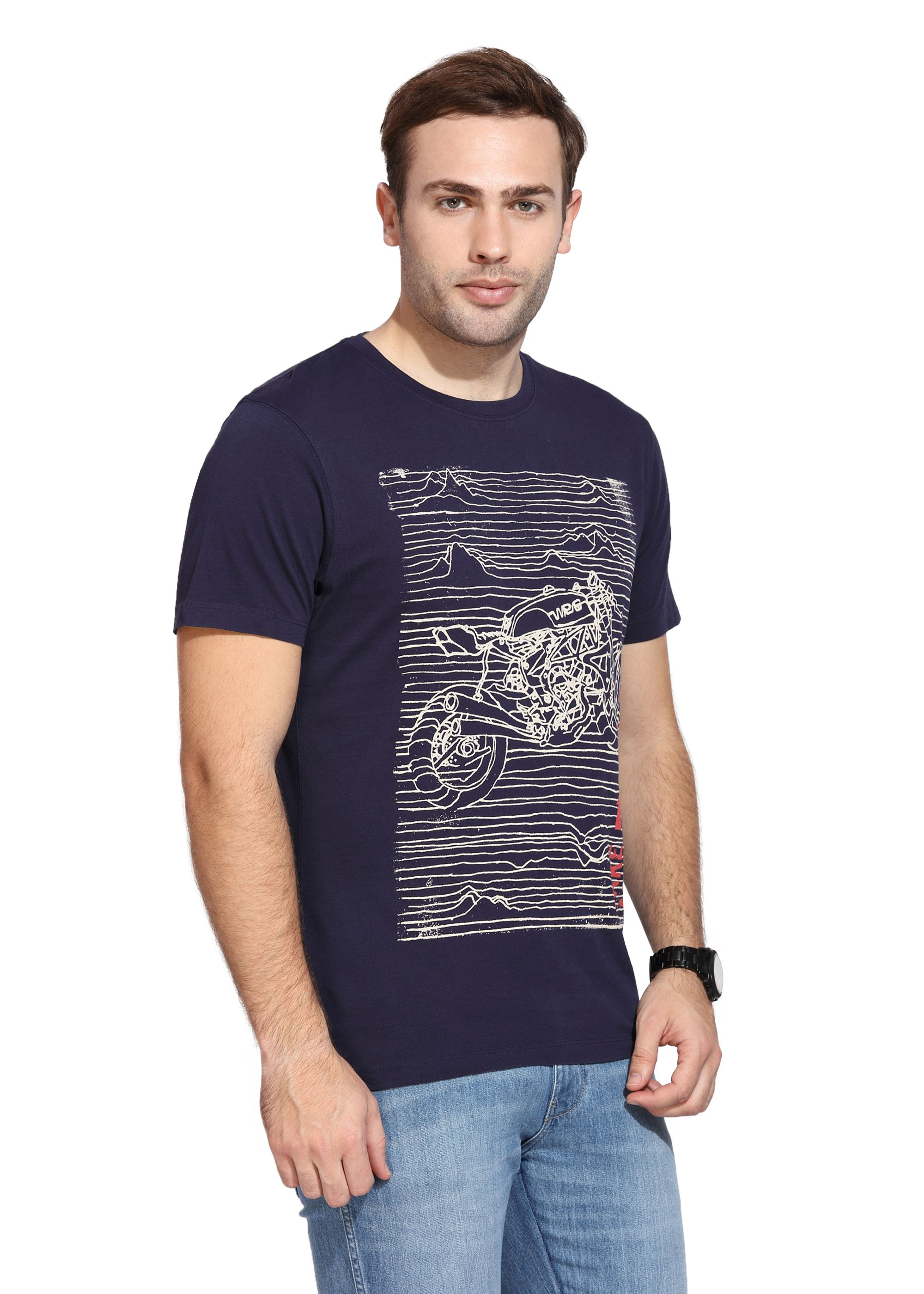 849d64a7 Wrangler Navy Round T-Shirt - Buy Wrangler Navy Round T-Shirt Online at Low  Price - Snapdeal.com