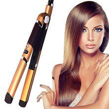 Jm Kemei Professional Travel Hair Straighteners Flat Iron 35W -41 Hair Straightener ( Golden & Black )