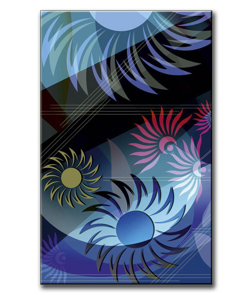Anwesha's Gallery Wrapped Digitally Printed 12.5 X 20 Inch - Sunflower Canvas Painting With Frame