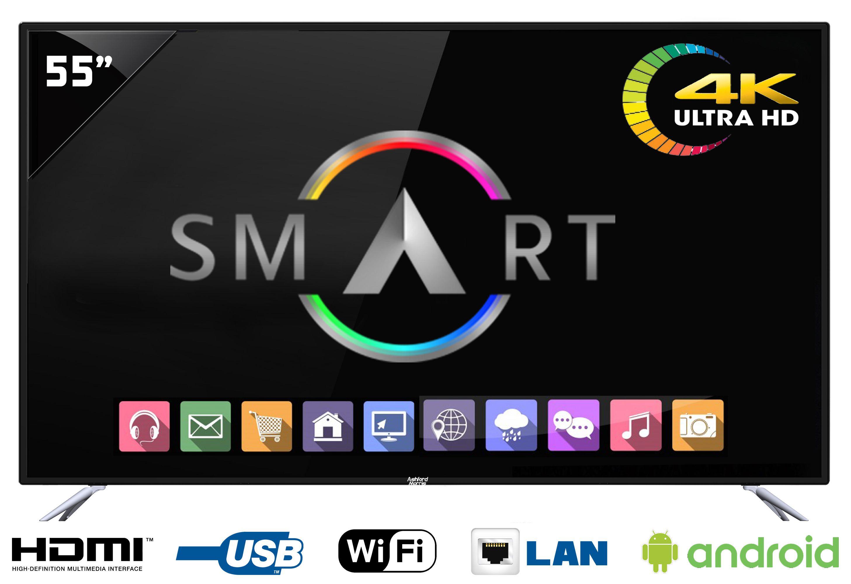 Ashford Morris AM 5500 140 cm 55 Smart Ultra HD 4K LED Television