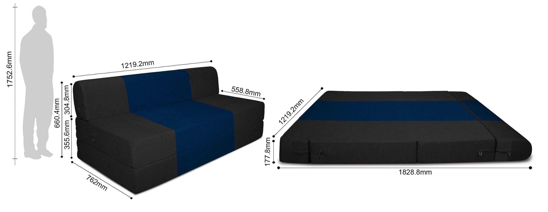Dolphin Zeal Iris Sofa Cum Bed 4ft x 6ft Buy Dolphin Zeal Iris
