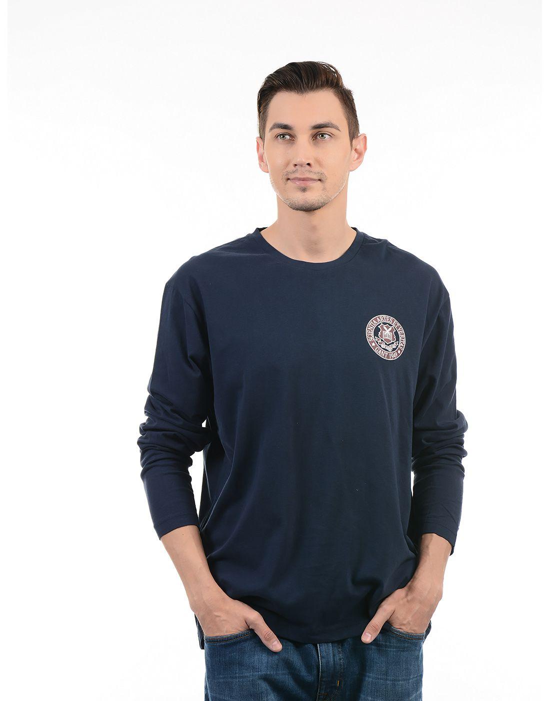 Gant Navy Round T-Shirt