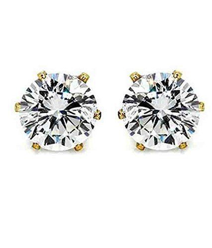 AD JEWELS Fashion Jewellery American Diamond Partywear Stud Earring For Women's/Girls (Perfect Gift For Beauty Icon)