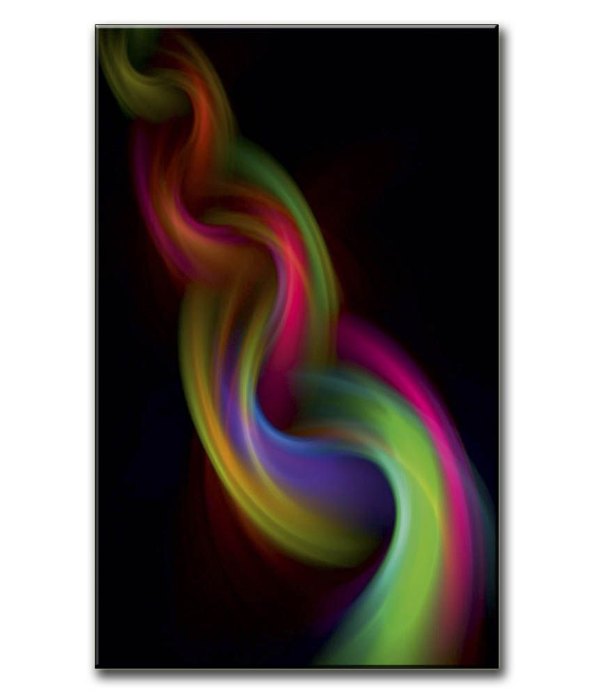 Anwesha's Gallery Wrapped Digitally Printed 12.5 X 20 Inch - Smoke Canvas Painting With Frame