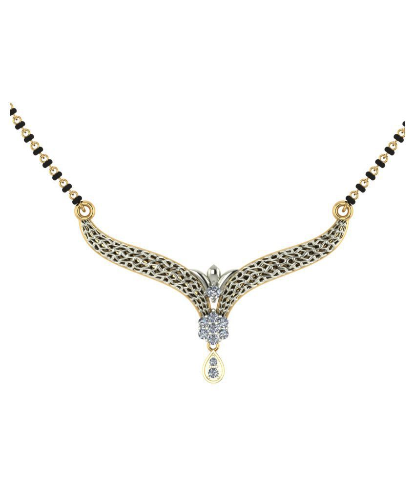 Dishis Designer Jewellery 18k Yellow Gold Diamond Mangalsutra