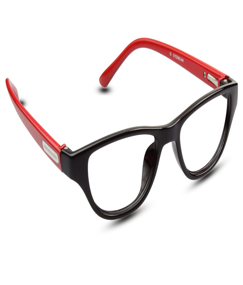 7436c152b9454 Buy REACTR- Kids Cat Eye Glasses Premium Specs Full Frame Eyeglasses For  Girl (Red