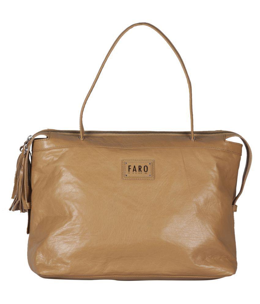 Faro Brown Pure Leather Shoulder Bag