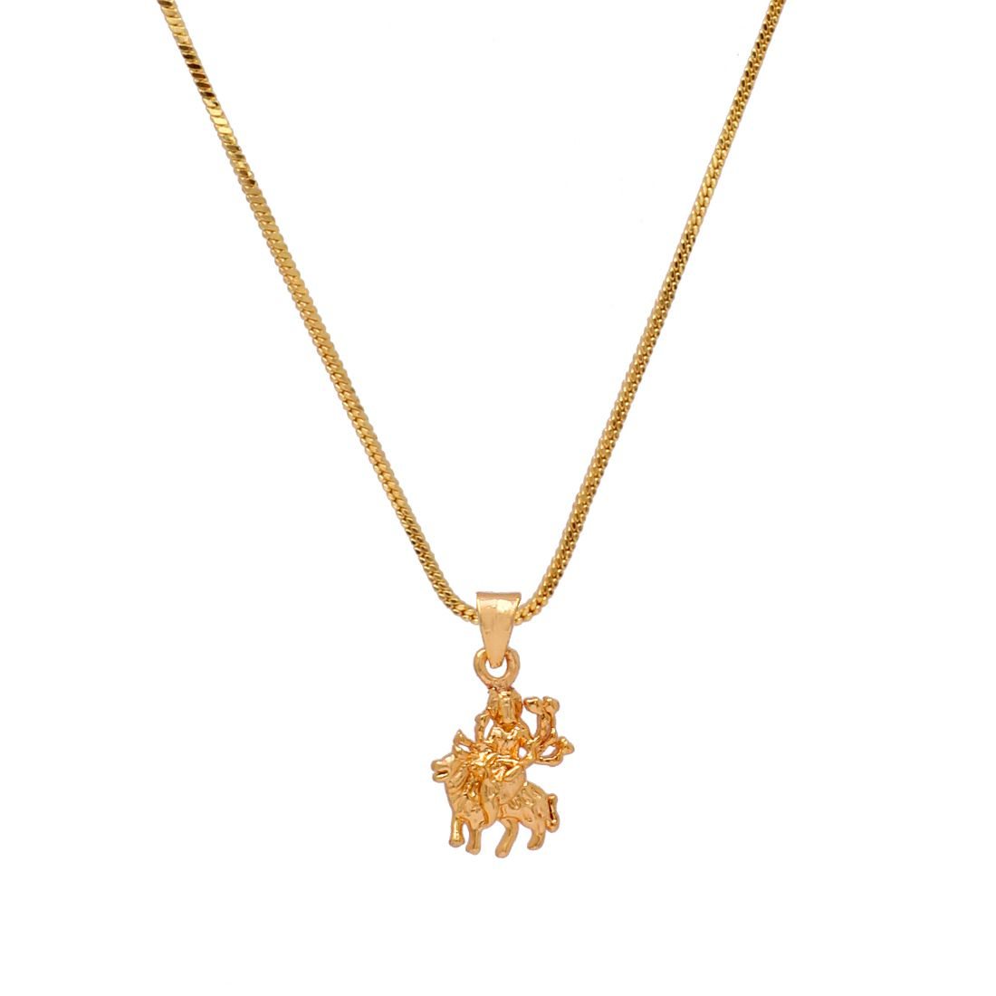 festive special gold color durga maa temple locket buy festive