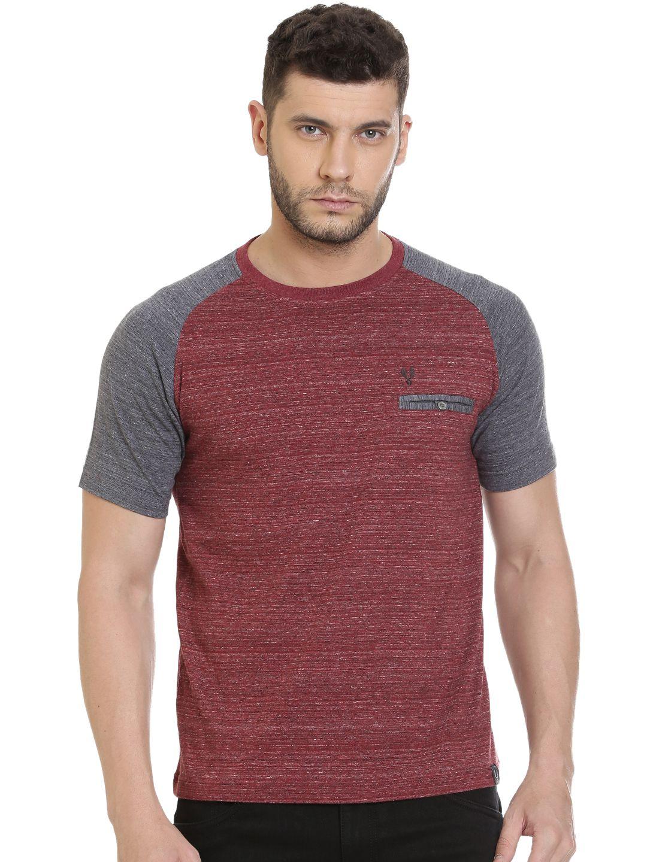VUDU Maroon Round T-Shirt