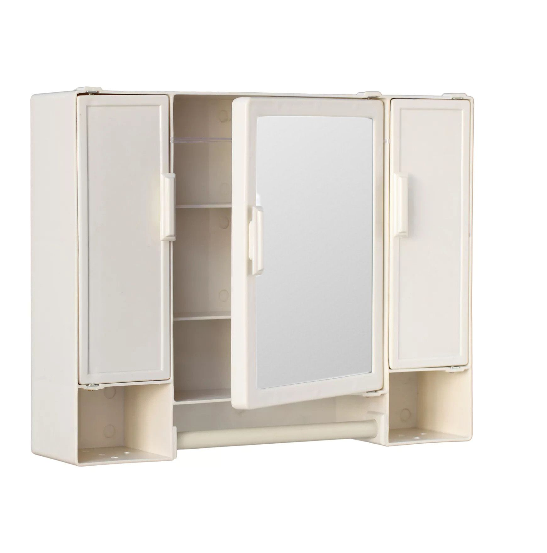 Buy Zahab Pulse Ivory Three Door Plastic Bathroom Cabinet line at