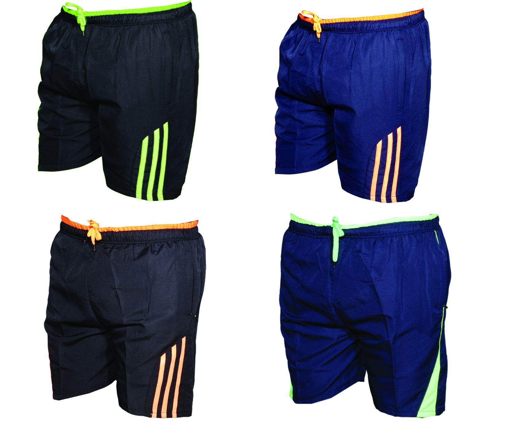IndiWeaves Multi Shorts (Pack  of 4 Polyester Bermuda)