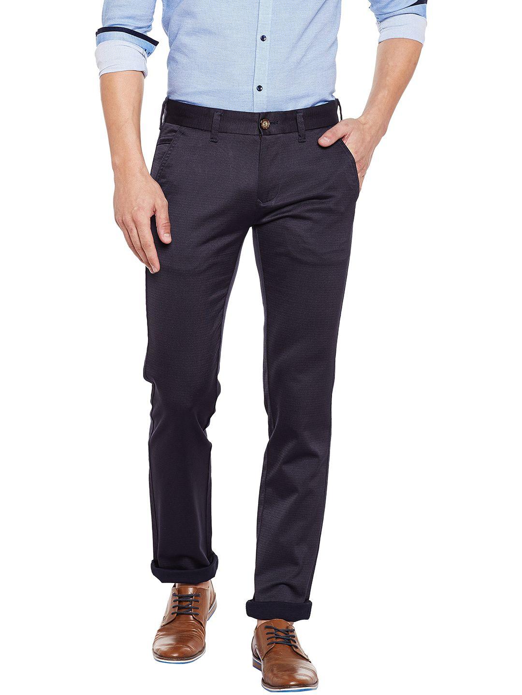 KILLER Blue Slim -Fit Flat Trousers