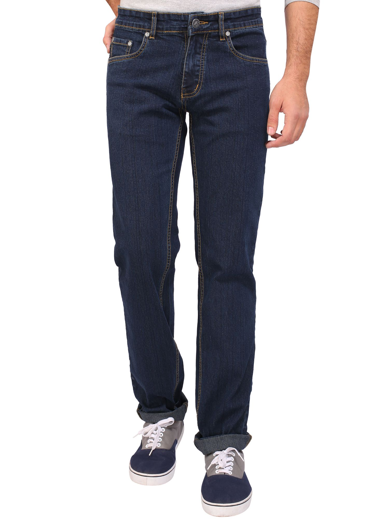 Flags Blue Regular Fit Jeans