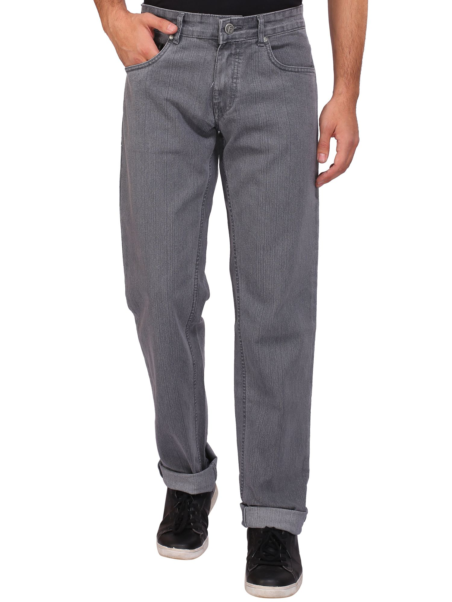 Flags Grey Regular Fit Jeans