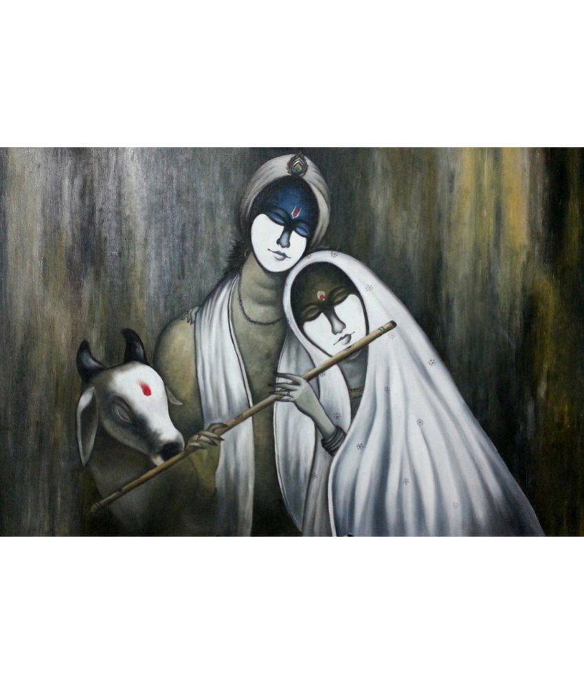 Anweshas Gallery Wrapped Digitally Printed 30x20 Inch - 161 Canvas Painting With Frame