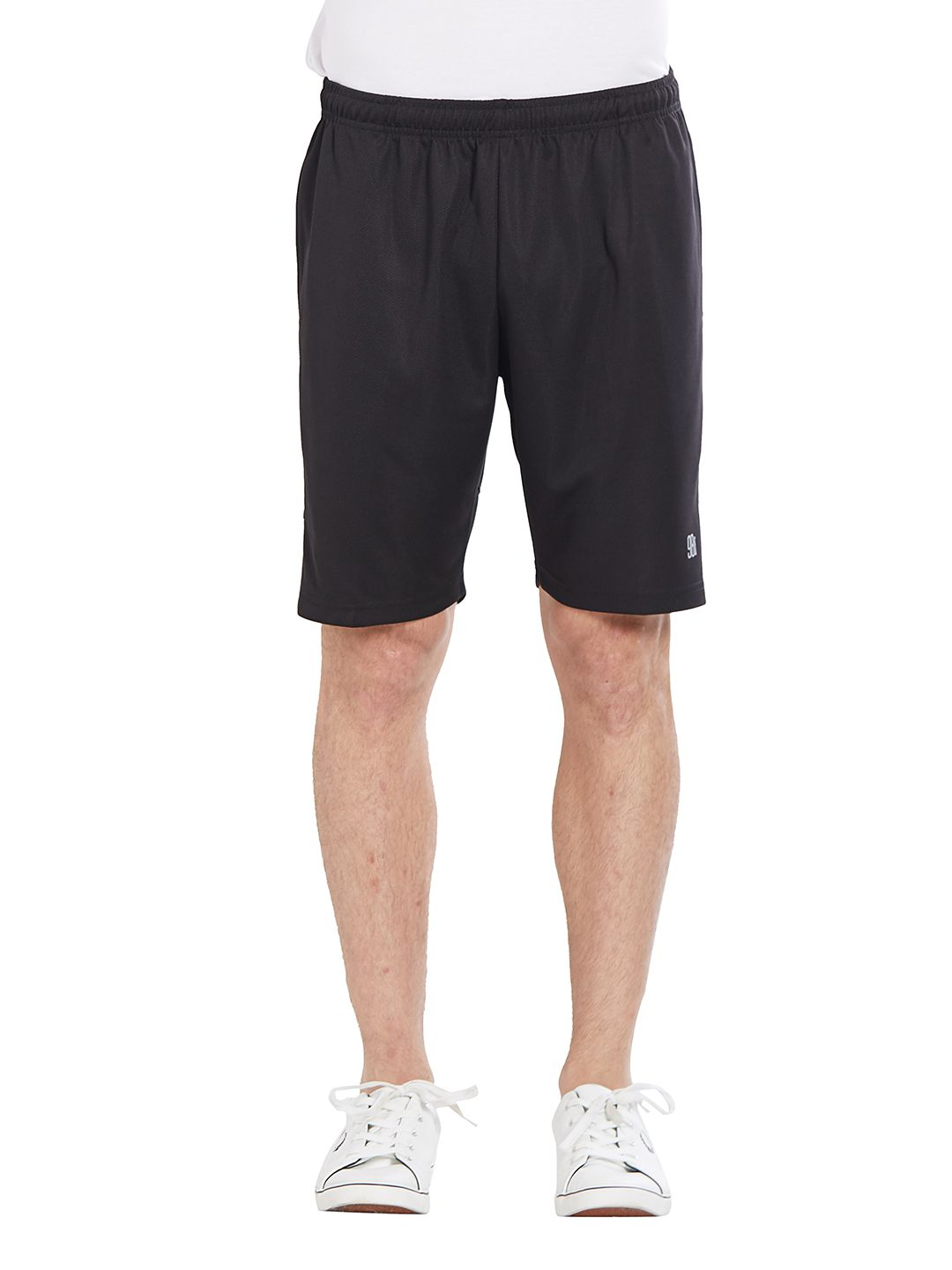 BONATY Black 100% Polyester Solid  Shorts For Men