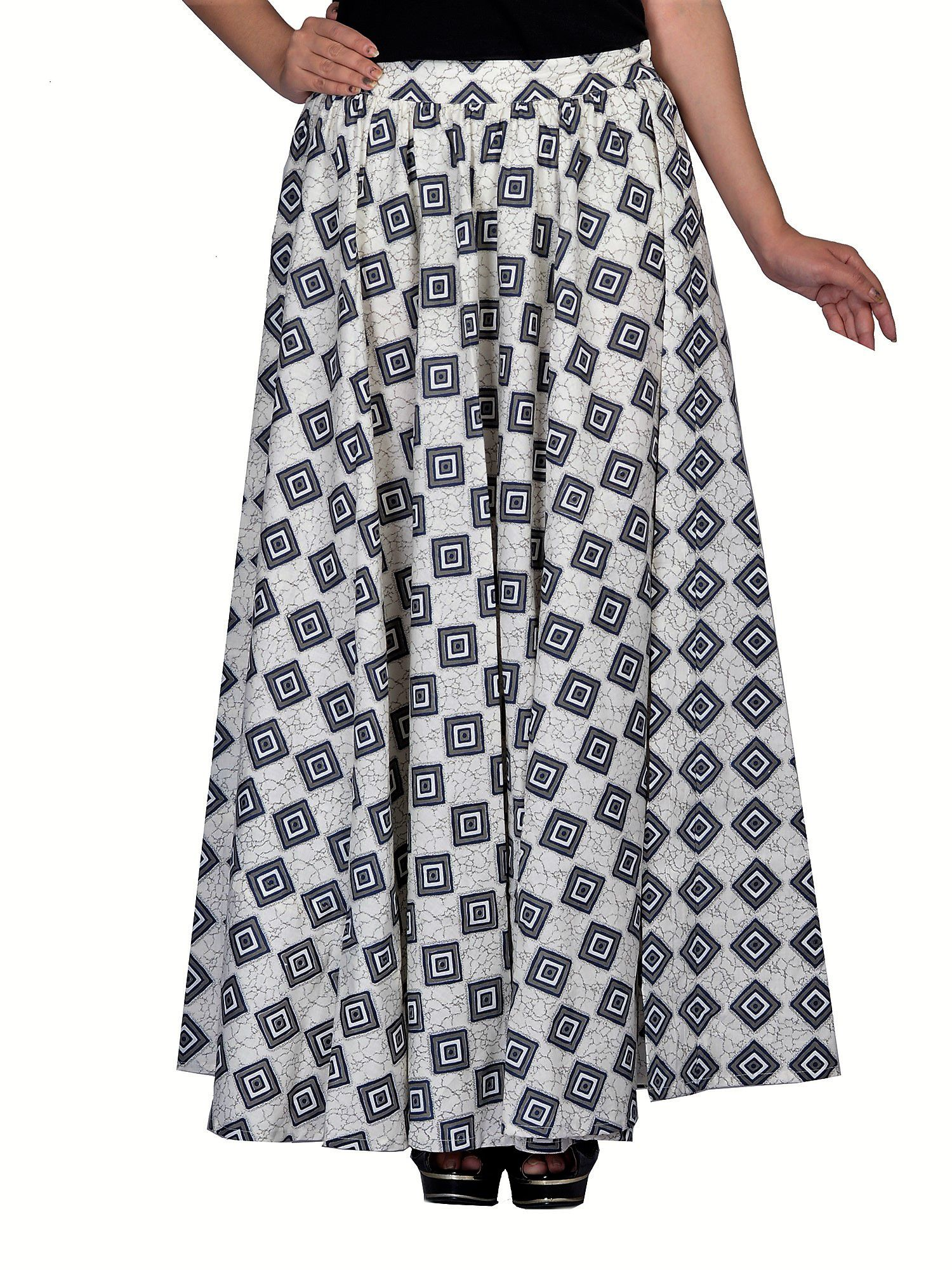 f55ef6d7f2 Buy KOTTON TRENDS Cotton A-Line Skirt - Off White Online at Best Prices in  India - Snapdeal
