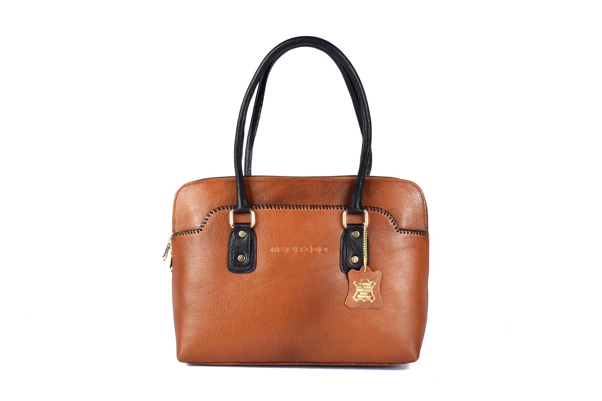 Morbido Brown Pure Leather Handheld