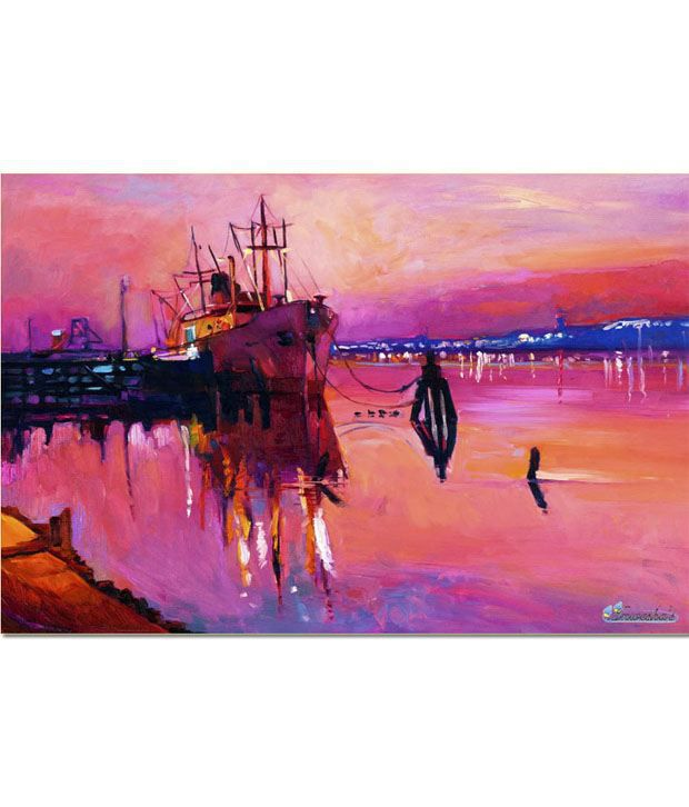 Anwesha's Gallery Wrapped Digitally Printed 30x20 Inch - 122 Canvas Painting With Frame