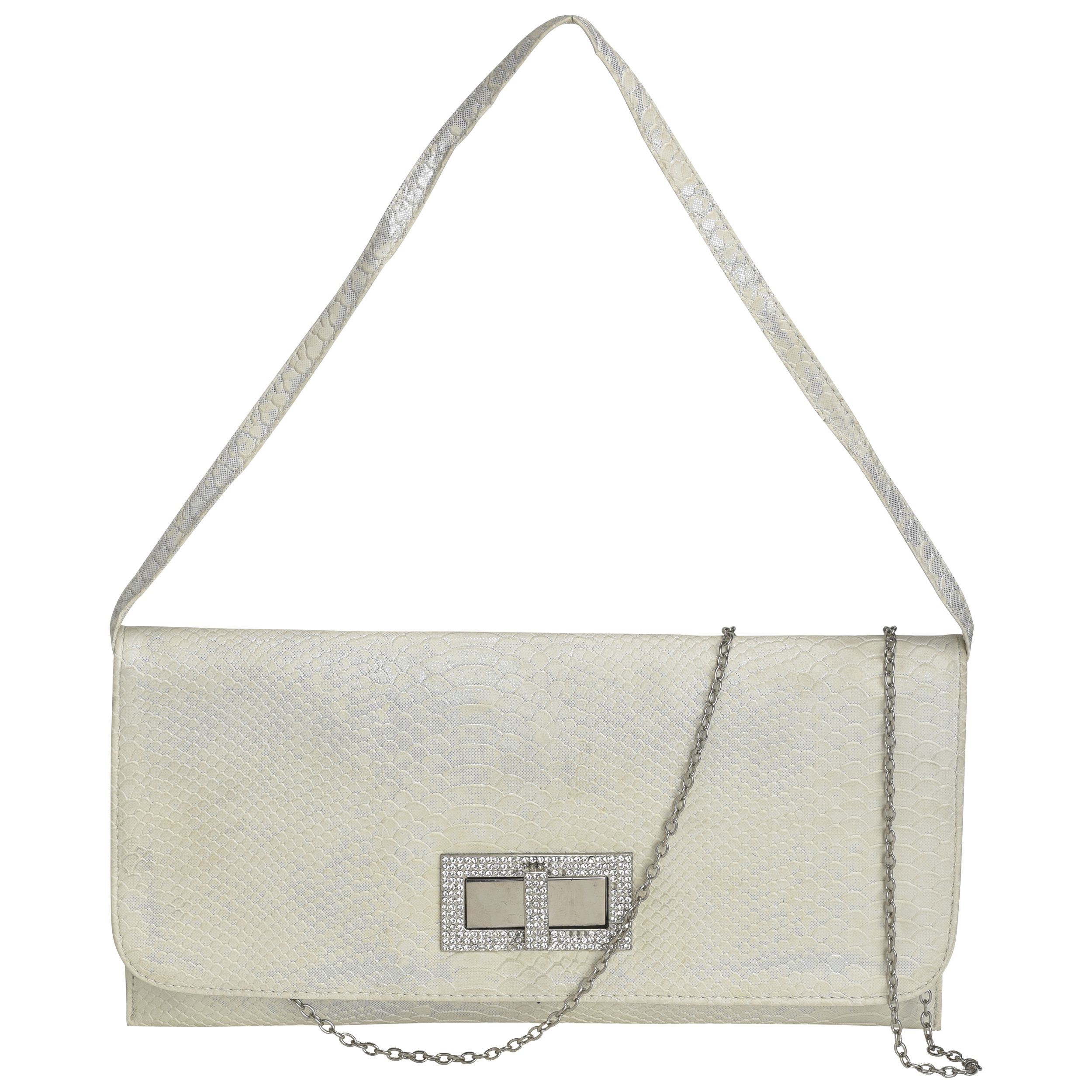 Ft Silver Artificial Leather Sling Bag