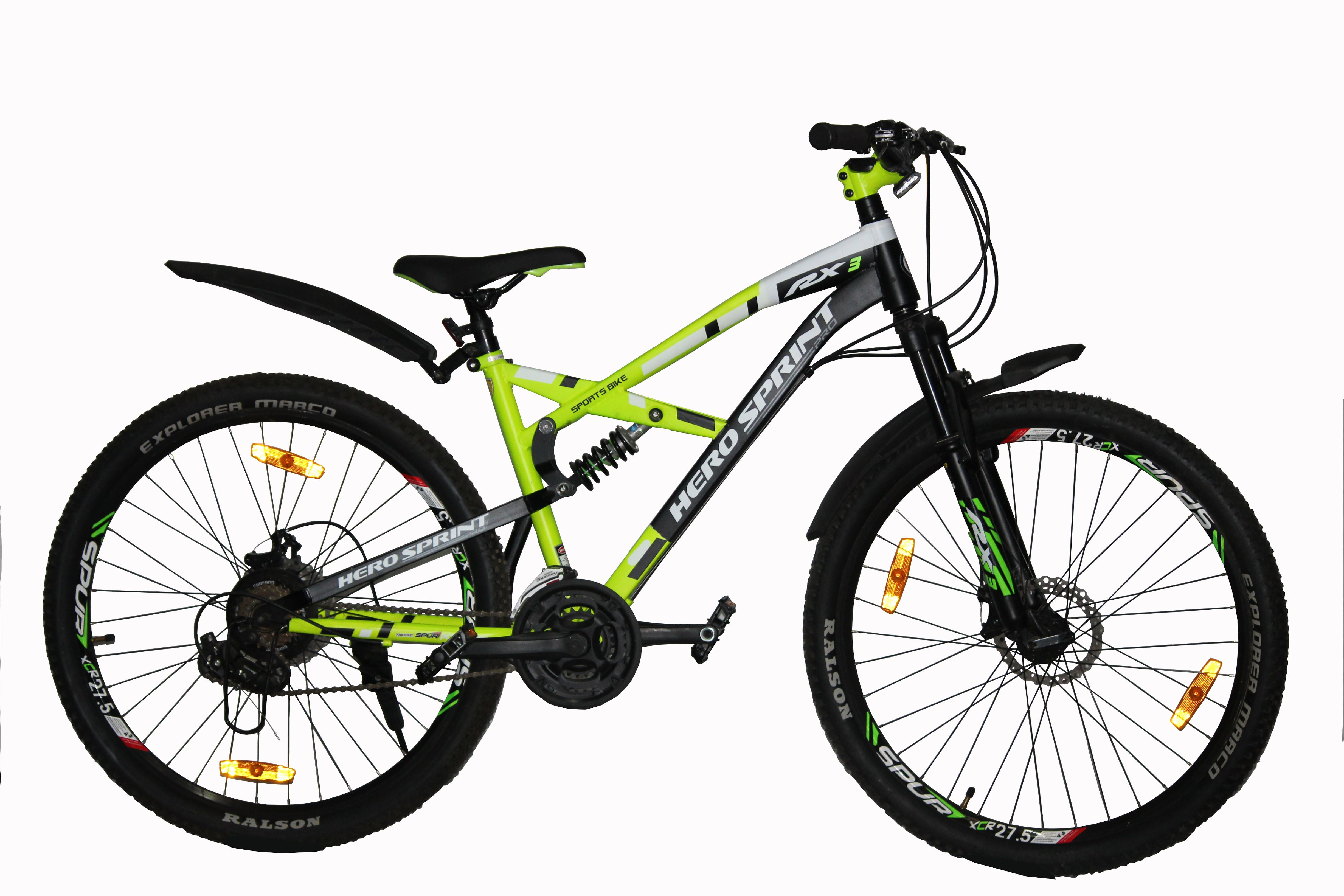 Hero Sprint RX3 21 Gear Speed Green 66 04 cm(26) Mountain Cycle Bike Adult  Bicycle Adult Bicycle/Man/Men/Women