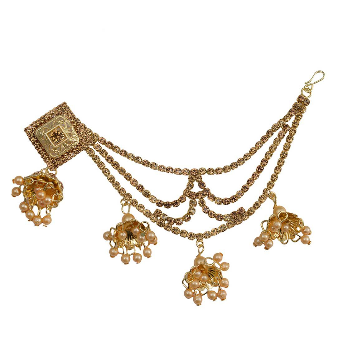 Taj Pearl Designer Traditional Earrings