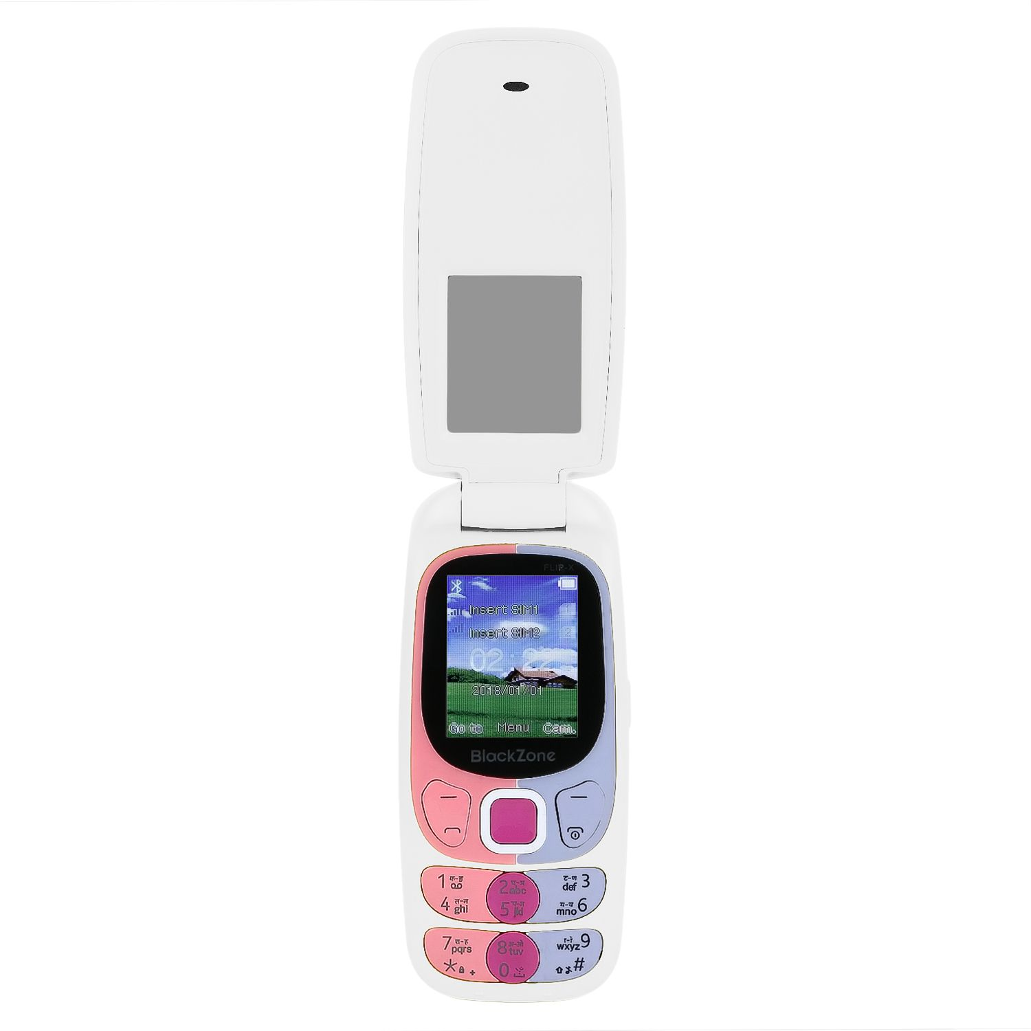 black zone white flip x 35 mb feature phone online at low prices