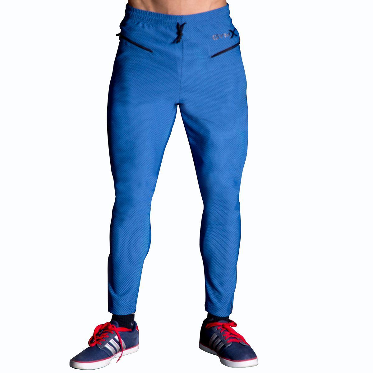 GymX Mens Vanquish Sweatpants- Ocean Blue (Size:Small)