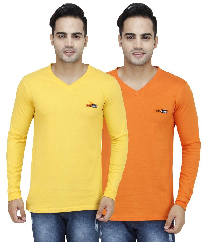 PRO Lapes Multi V-Neck T-Shirt Pack of 2