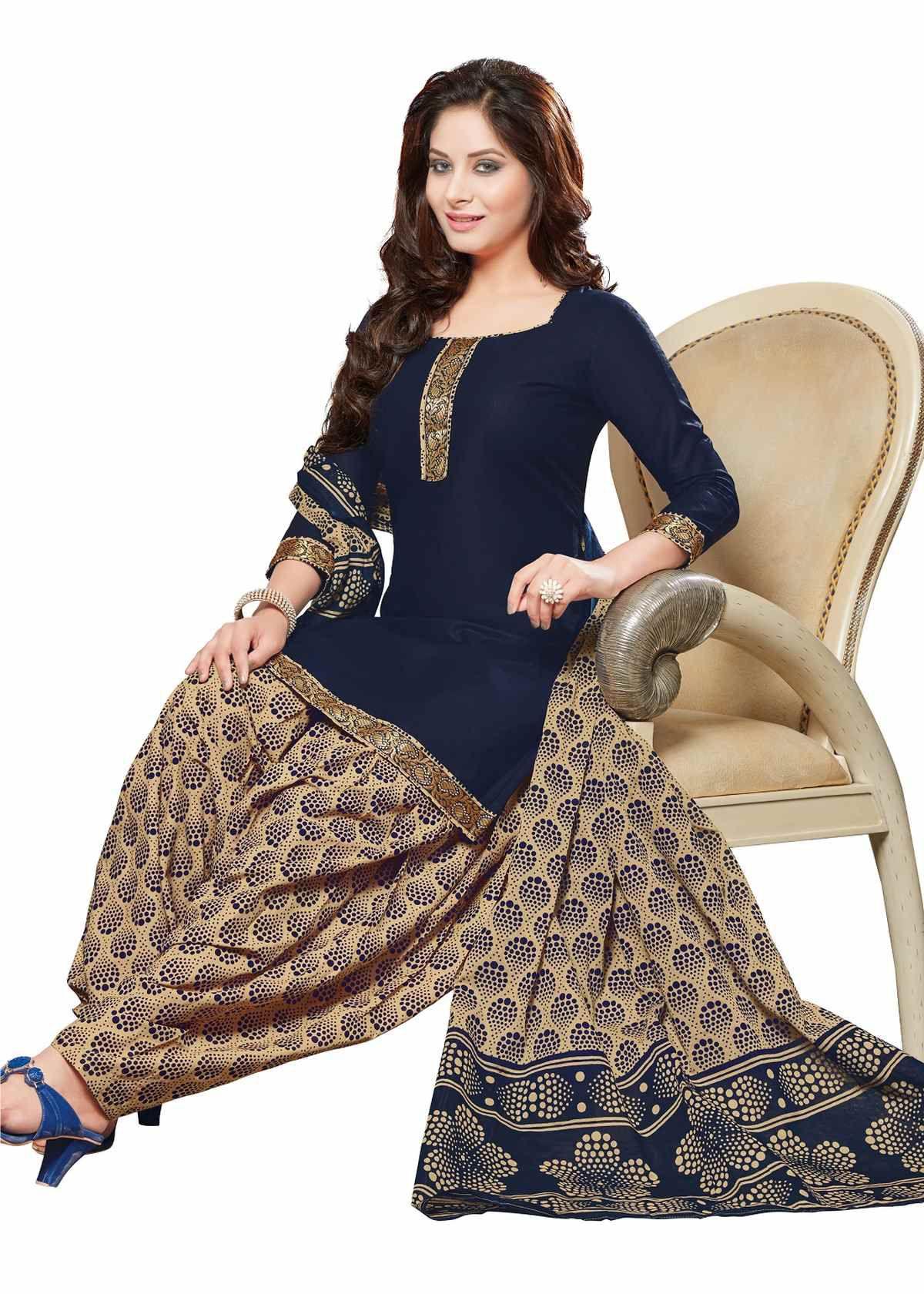Sudarshan silks Blue Cotton Saree