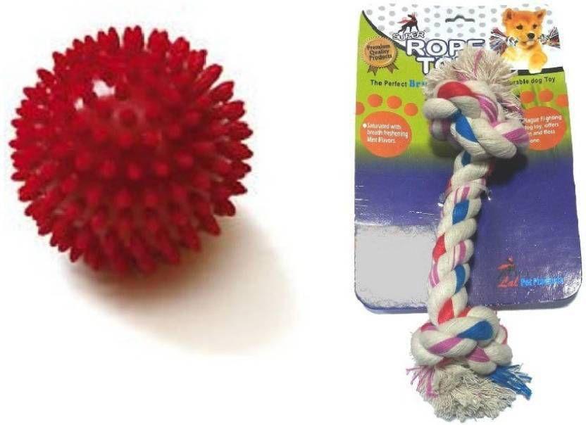 Super Dog Combo - Spike Ball & Tug Rope Toy
