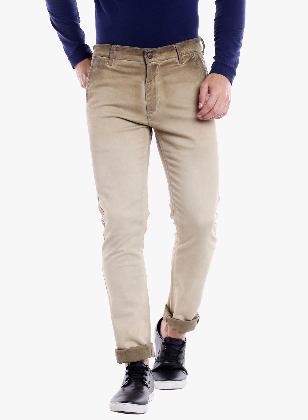 ROADIES by BEEVEE Khaki Regular -Fit Flat Trousers